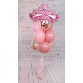 Принцессе Фонтан из шаров