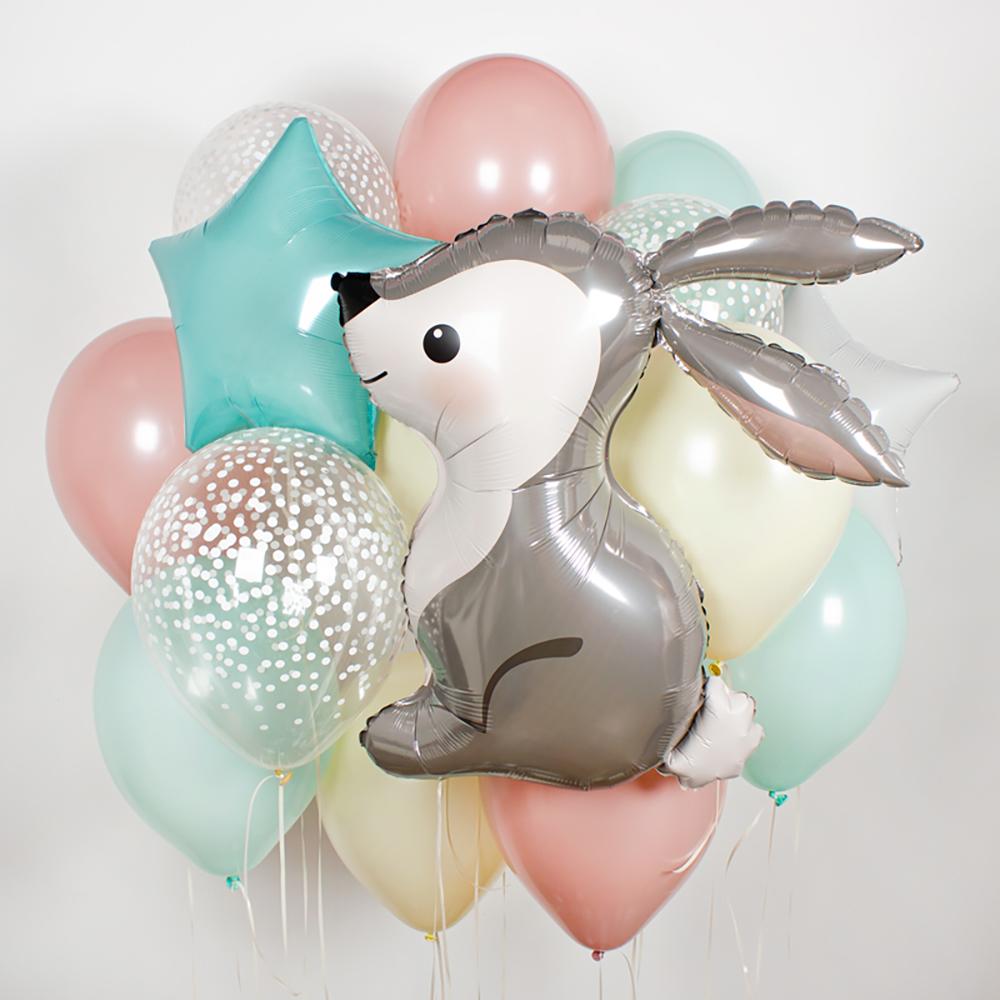 Пасхальный зайчик Фонтан из шаров