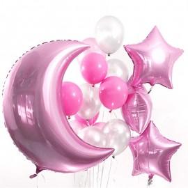 Розовые сны Фонтан из шаров