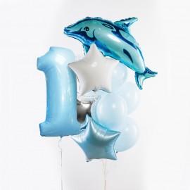 Морской Цифра и Фонтан из шаров