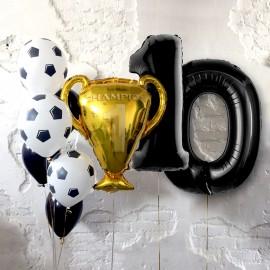 Победитель Цифры и Фонтан из шаров