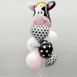 Милая корова Фонтан из шаров