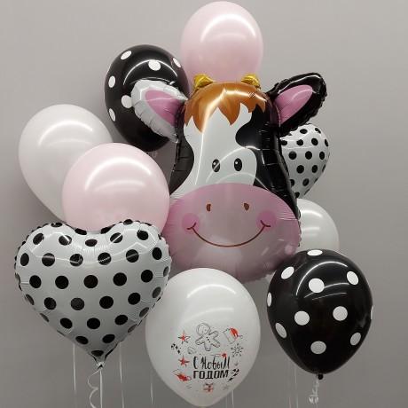 Милая корова Облако из шаров