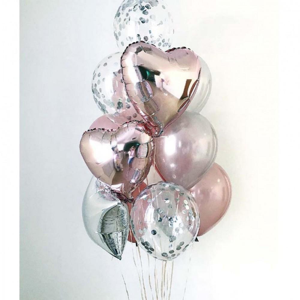 Розовое облако Фонтан из шаров