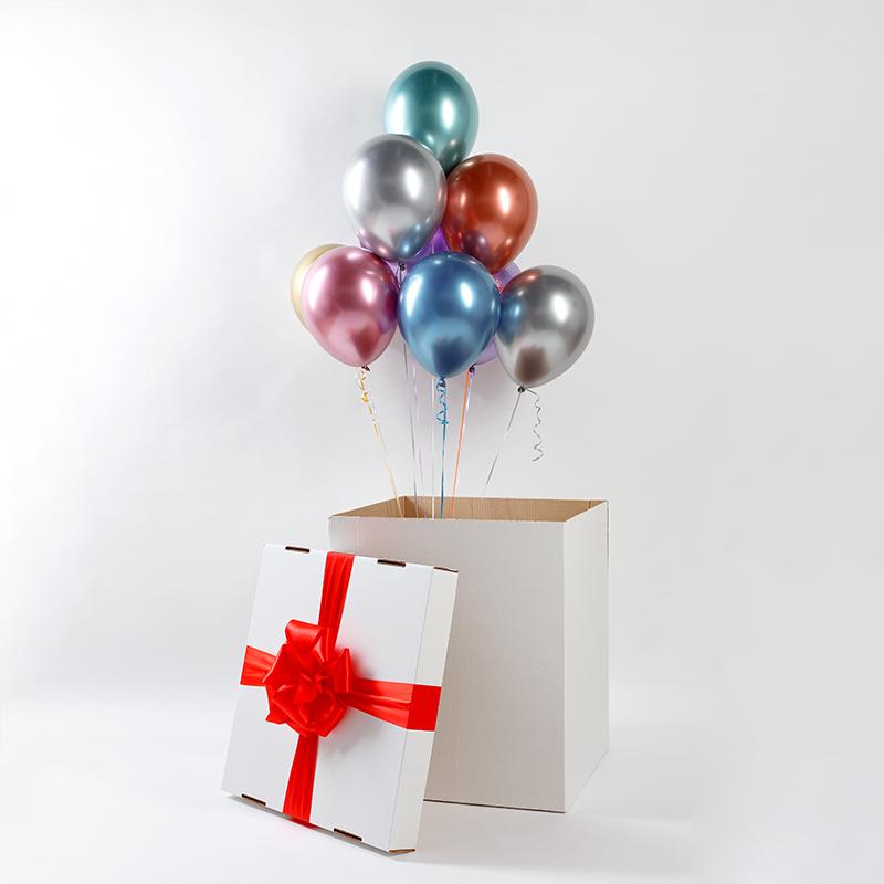 Коробка Сюрприз с хромированными шарами