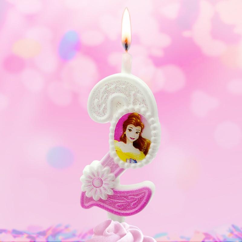 Свеча Принцессы Диснея Цифра 2