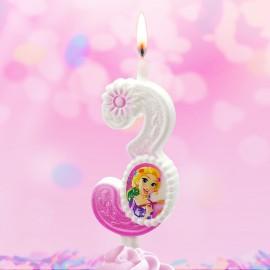 Свеча Принцессы Диснея Цифра 3