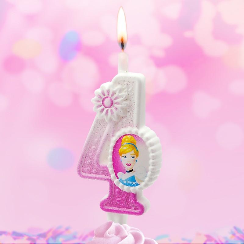 Свеча Принцессы Диснея Цифра 4