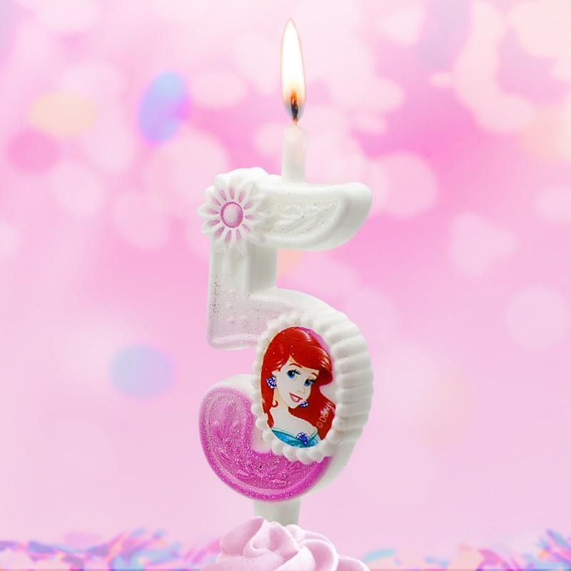 Свеча Принцессы Диснея Цифра 5