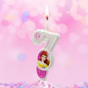 Свеча Принцессы Диснея Цифра 7