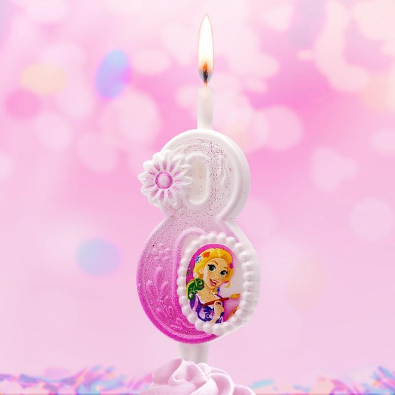 Свеча Принцессы Диснея Цифра 8