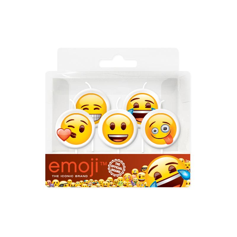 Свечи Смайл Emoji 5шт
