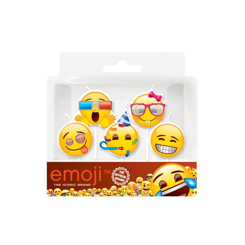 """Свечи Смайл Emoji """"Вечеринка"""" 5шт"""