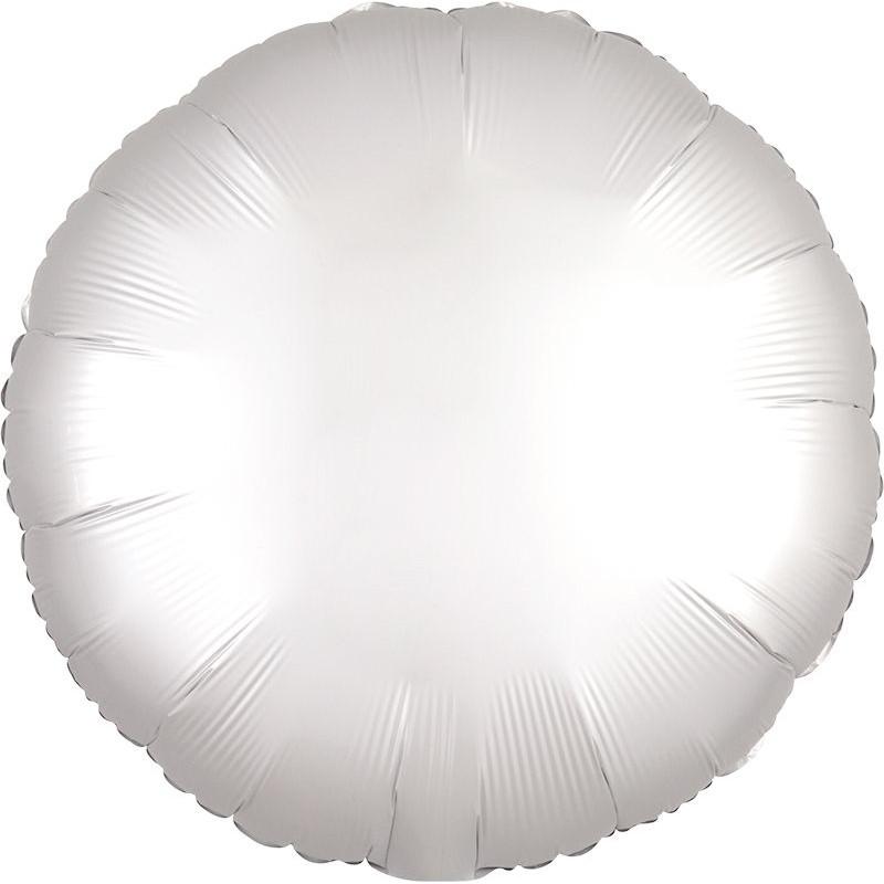 Круг Белый Сатин 46 см