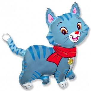 Шар Милый котенок (голубой)