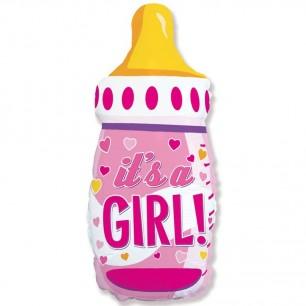 Шар Бутылочка для девочки 79см