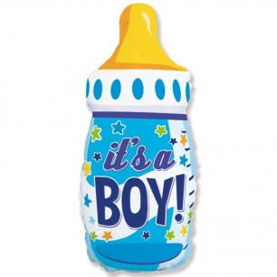 Шар Бутылочка для мальчика 79см