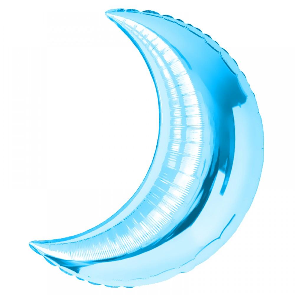 Шар Полумесяц Голубой 71 см