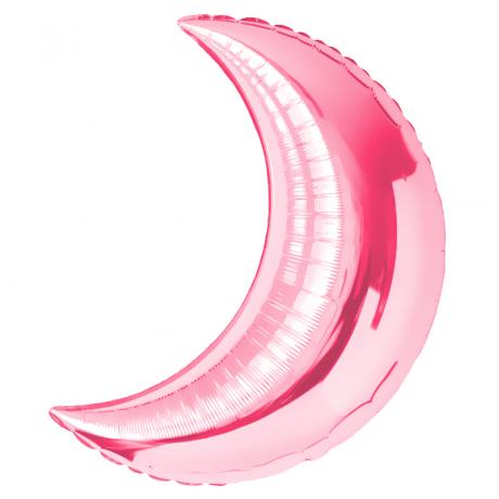 Шар Полумесяц Розовый 71 см