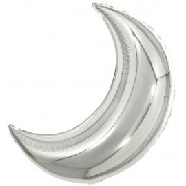 Шар Полумесяц Серебро 71 см
