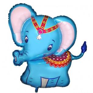 Шар Слоненок голубой