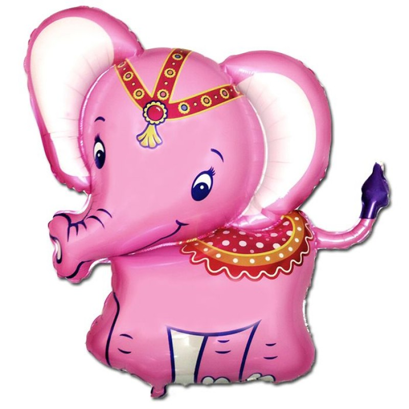 Шар Слоненок розовый