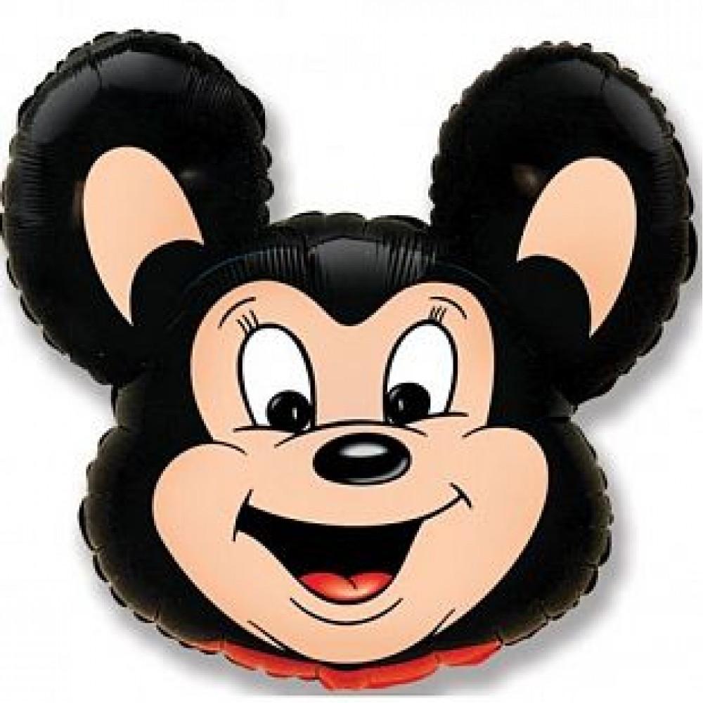 Шар Мощный мышонок (черный)