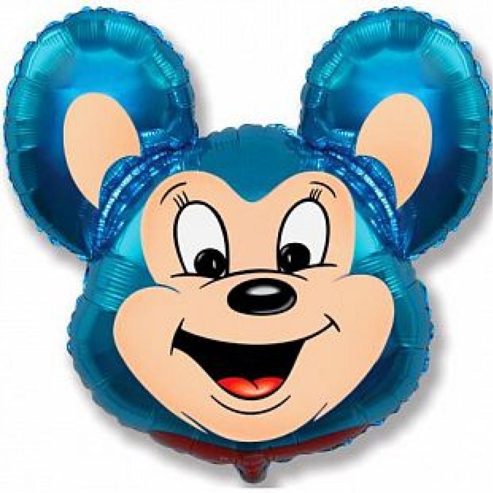 Шар Мощный мышонок (синий)