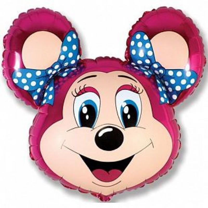 Шар Лолли-мышонок (фуксия)