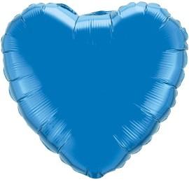 Шар Сердце Синий 46 см