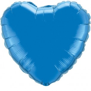 Сердце Синий 46 см