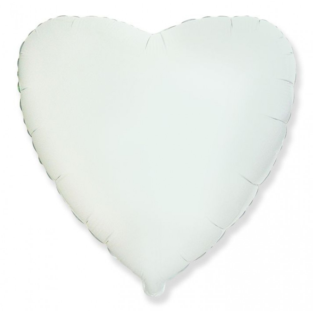 Шар Сердце Белый 46 см