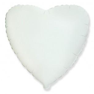 Сердце Белый 46 см