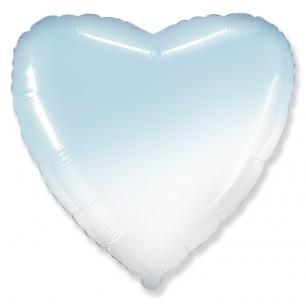 Сердце Бело-Голубой градиент 46 см