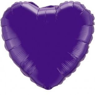 Шар Сердце Фиолетовый 46 см
