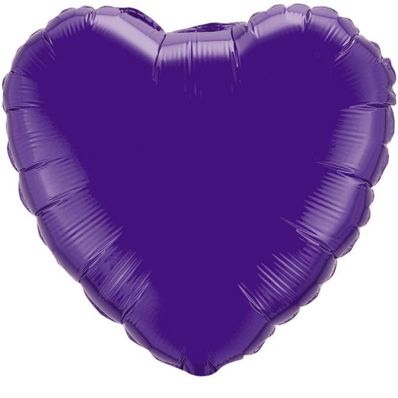 Сердце Фиолетовый 46 см