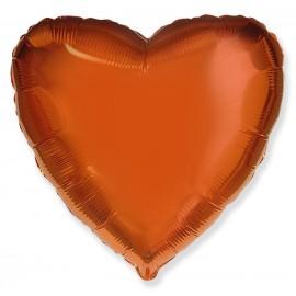 Шар Сердце Оранжевый 46 см