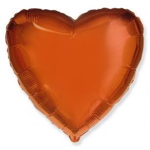 Сердце Оранжевый 46 см