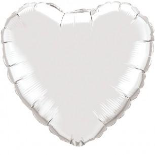 Сердце Серебро 46 см