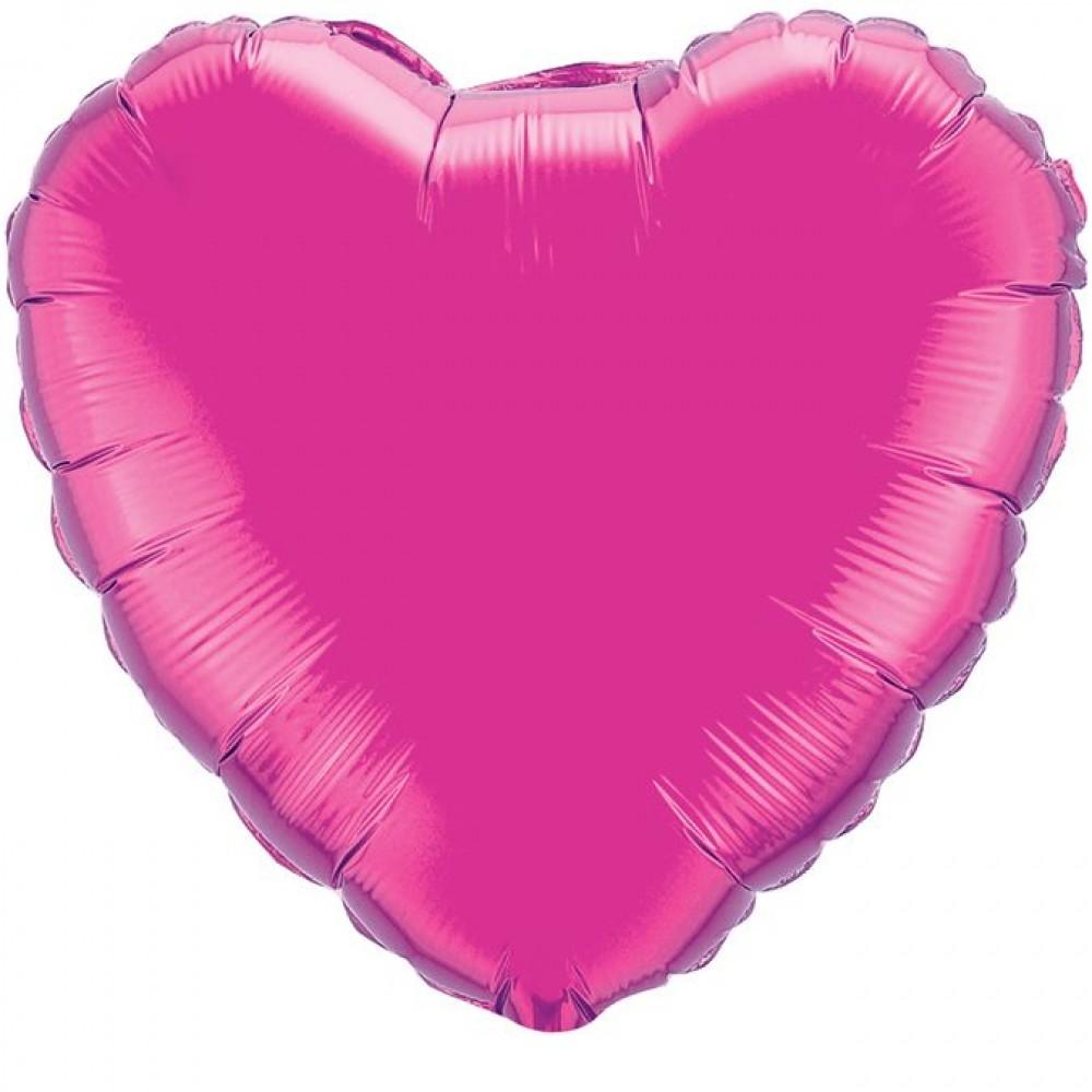 Шар Сердце Лиловый 46 см