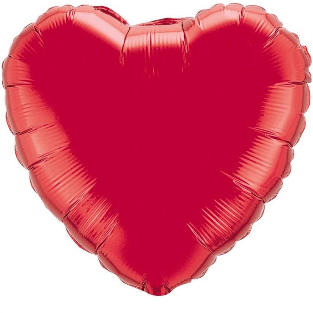 Шар Сердце Красный 46 см