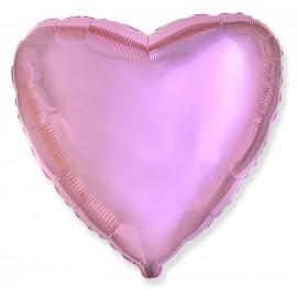 Шар Сердце Розовый нежный 46 см