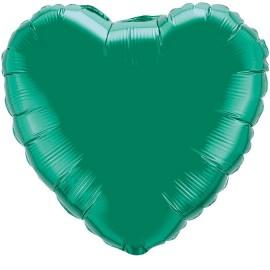 Шар Сердце Зеленый 46 см