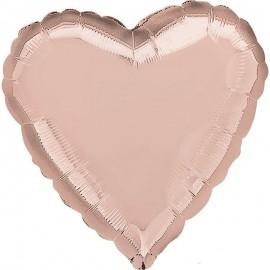 Шар Сердце Роза Голд 46 см