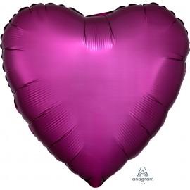 Шар Сердце Гранат Сатин 46 см