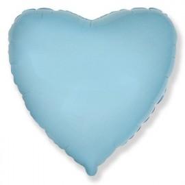 Шар Сердце Светло-голубой 46 см