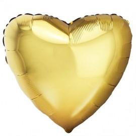 Шар Сердце Античное Золото 46 см