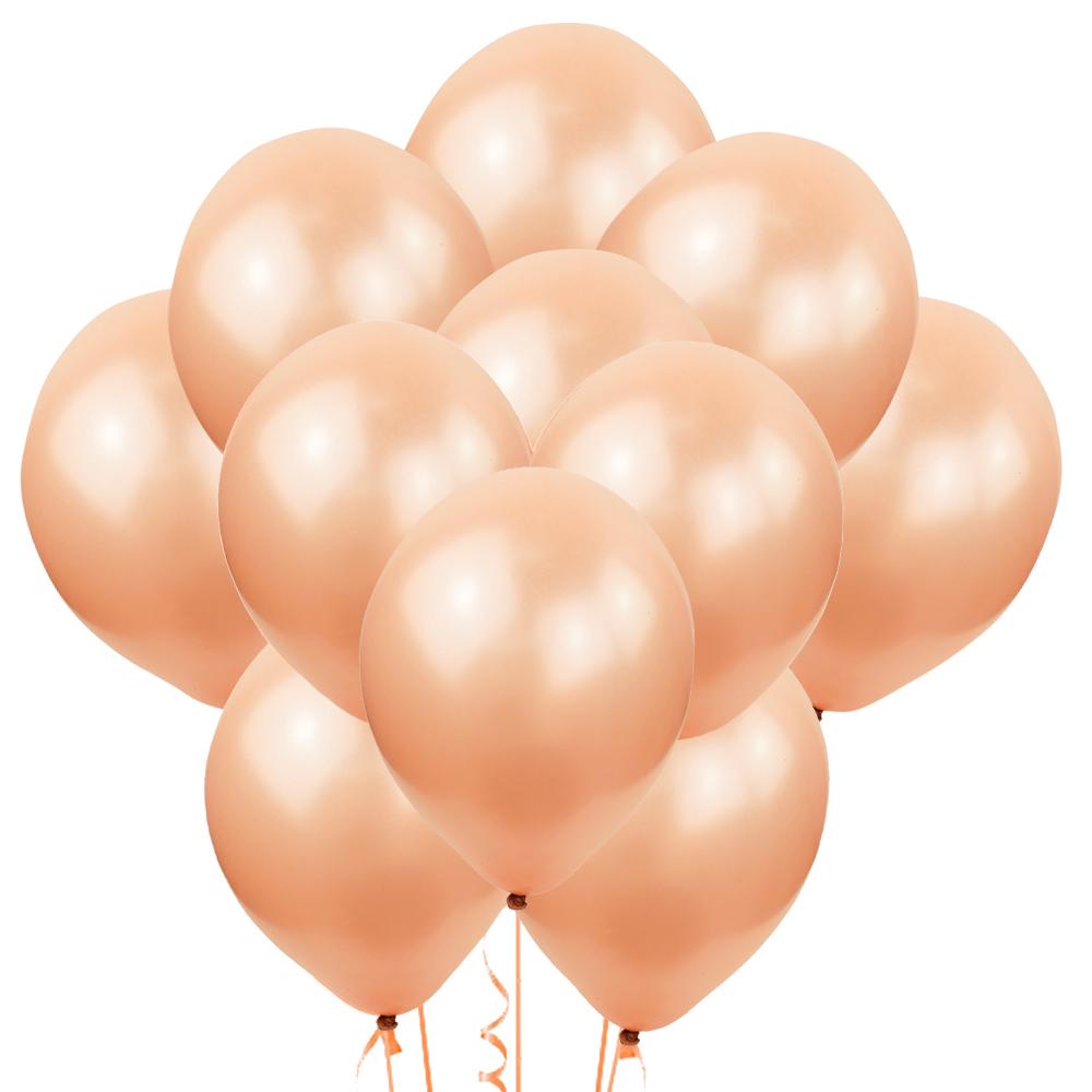 Облако из 15 шаров Металлик Rose Gold 30 см (112)