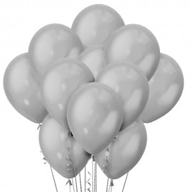 Облако из 15 шаров Пастель Серый 30 см