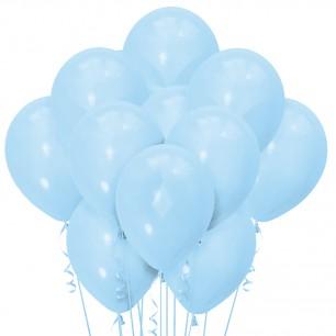 Облако из 15 шаров Матовый пастель светло-голубой 30 см (138)